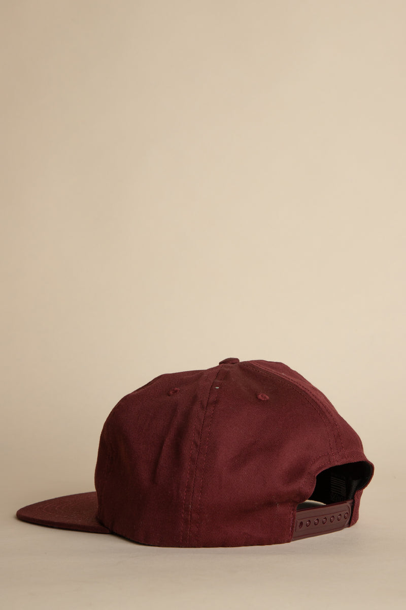 Powers Supply - Maroon Powers Arch 6-Panel Hat