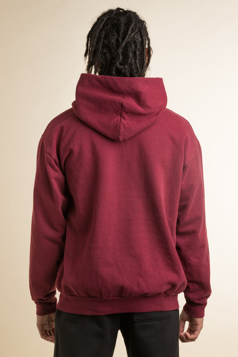 Powers Supply - Maroon Powers D5 Arch Hoodie