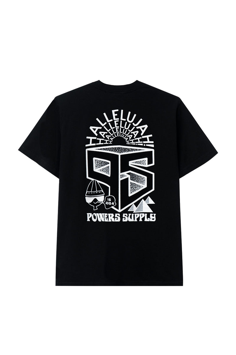 Powers Supply - Black Collage T-Shirt | 1032 SPACE