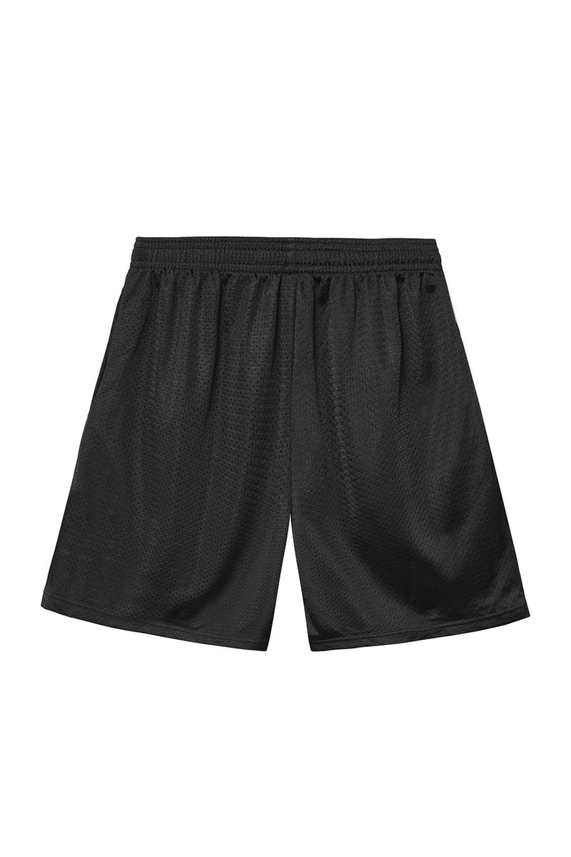 Powers Supply - Black Diamond Script Mesh Shorts | 1032 SPACE