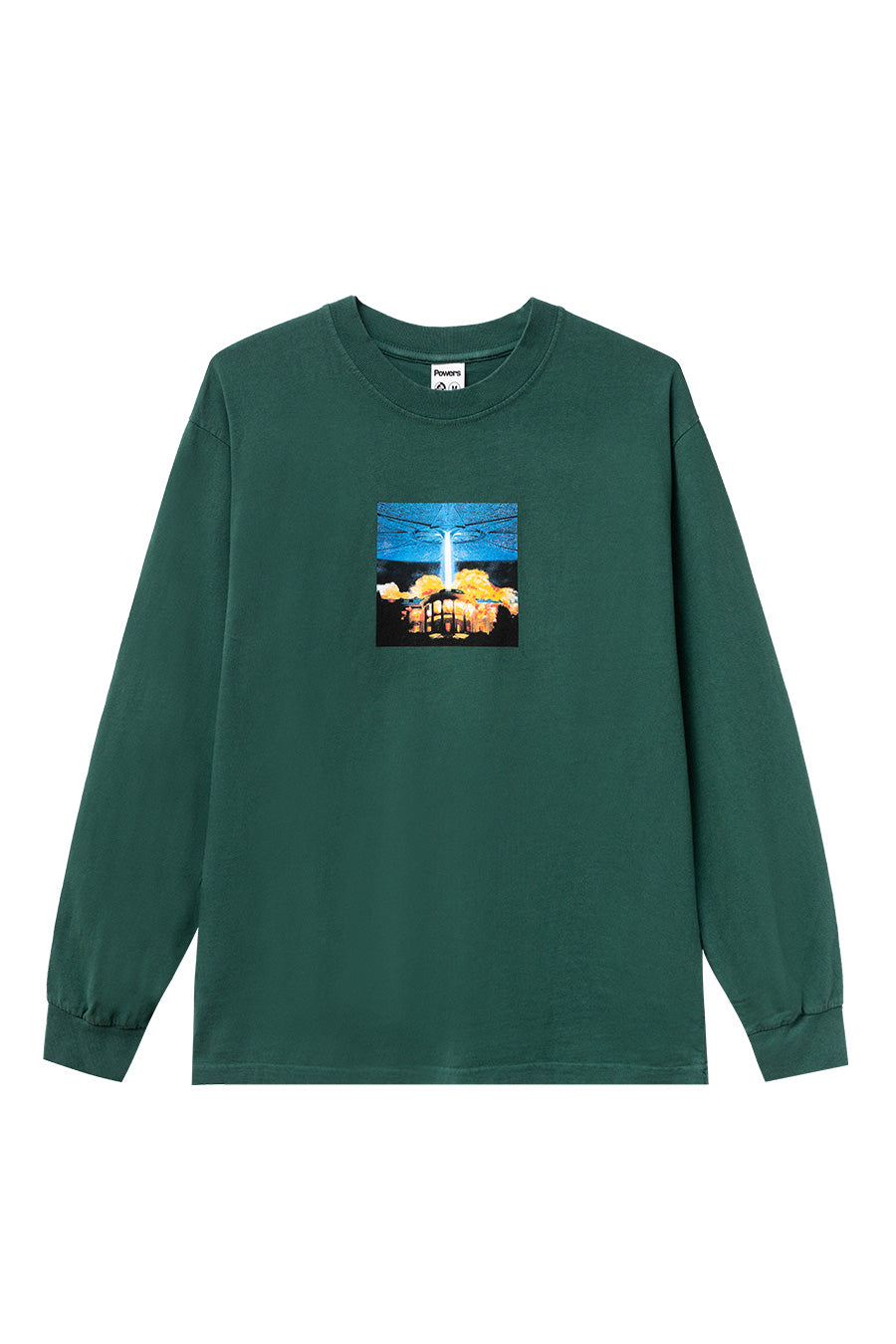 Powers Supply - Green White House Long Sleeve T-Shirt | 1032 SPACE