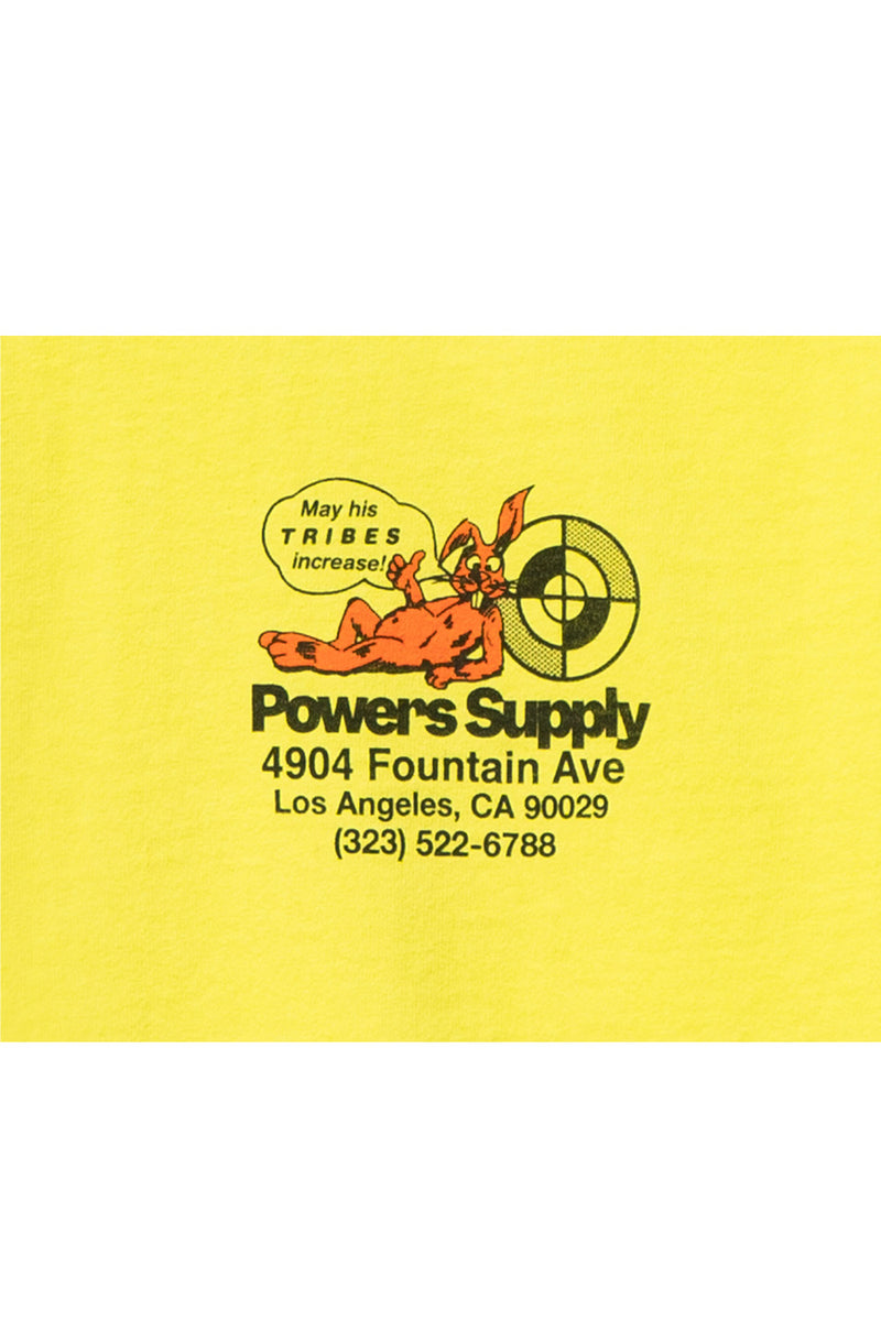 Powers Supply - Safety Yellow Powers Shop Long Sleeve T-Shirt | 1032 SPACE
