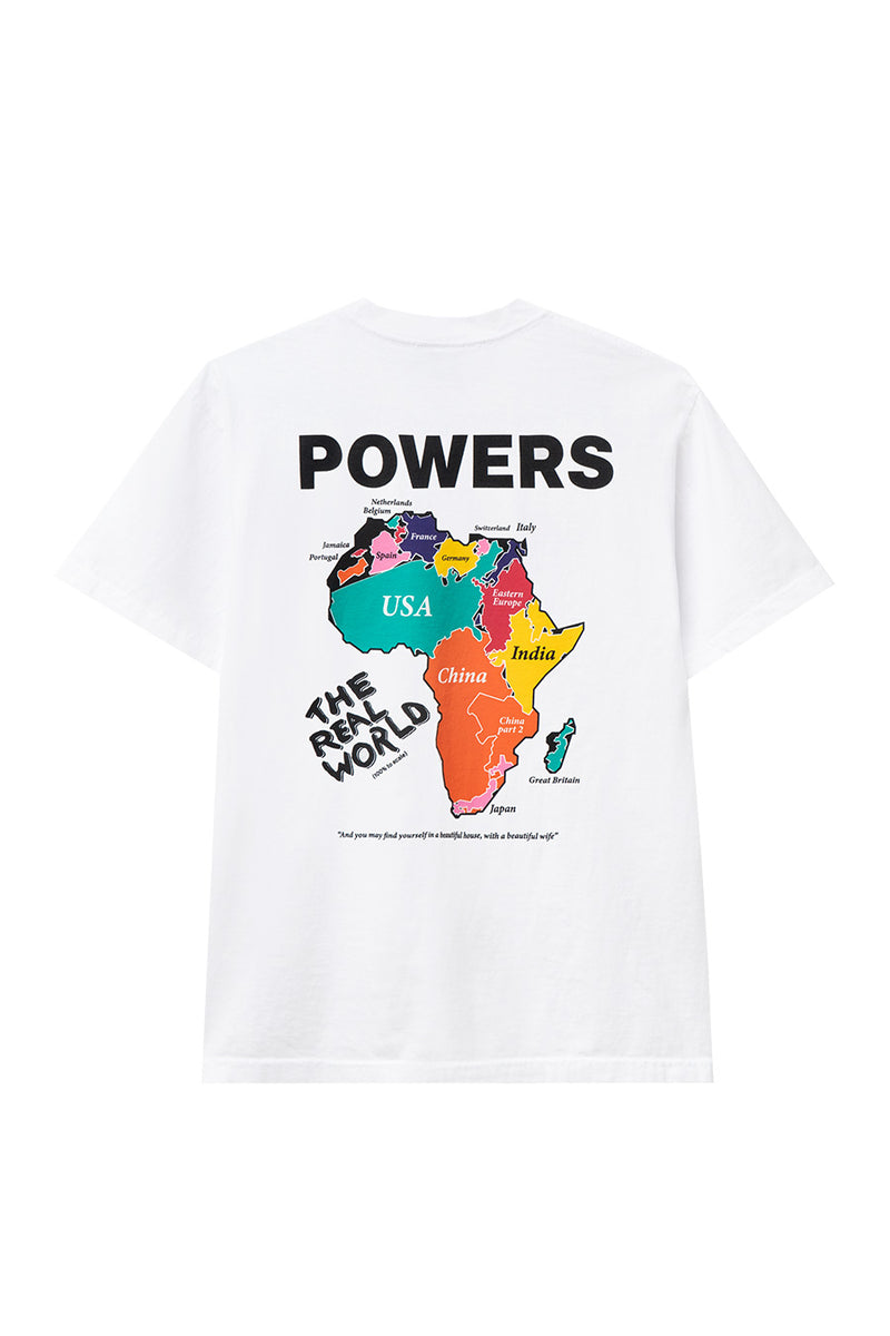 Powers Supply - White Real World T-Shirt | 1032 SPACE