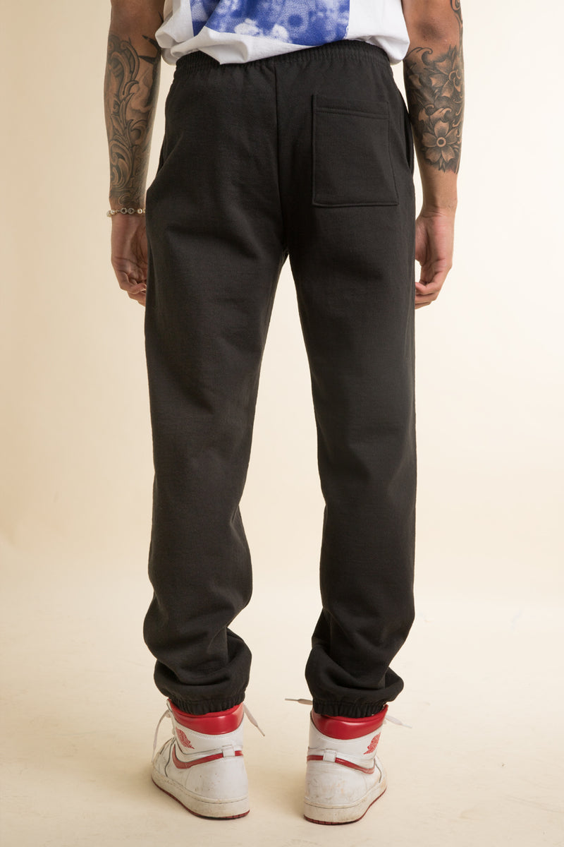 Powers Supply - Black Stacked Logo Sweatpants
