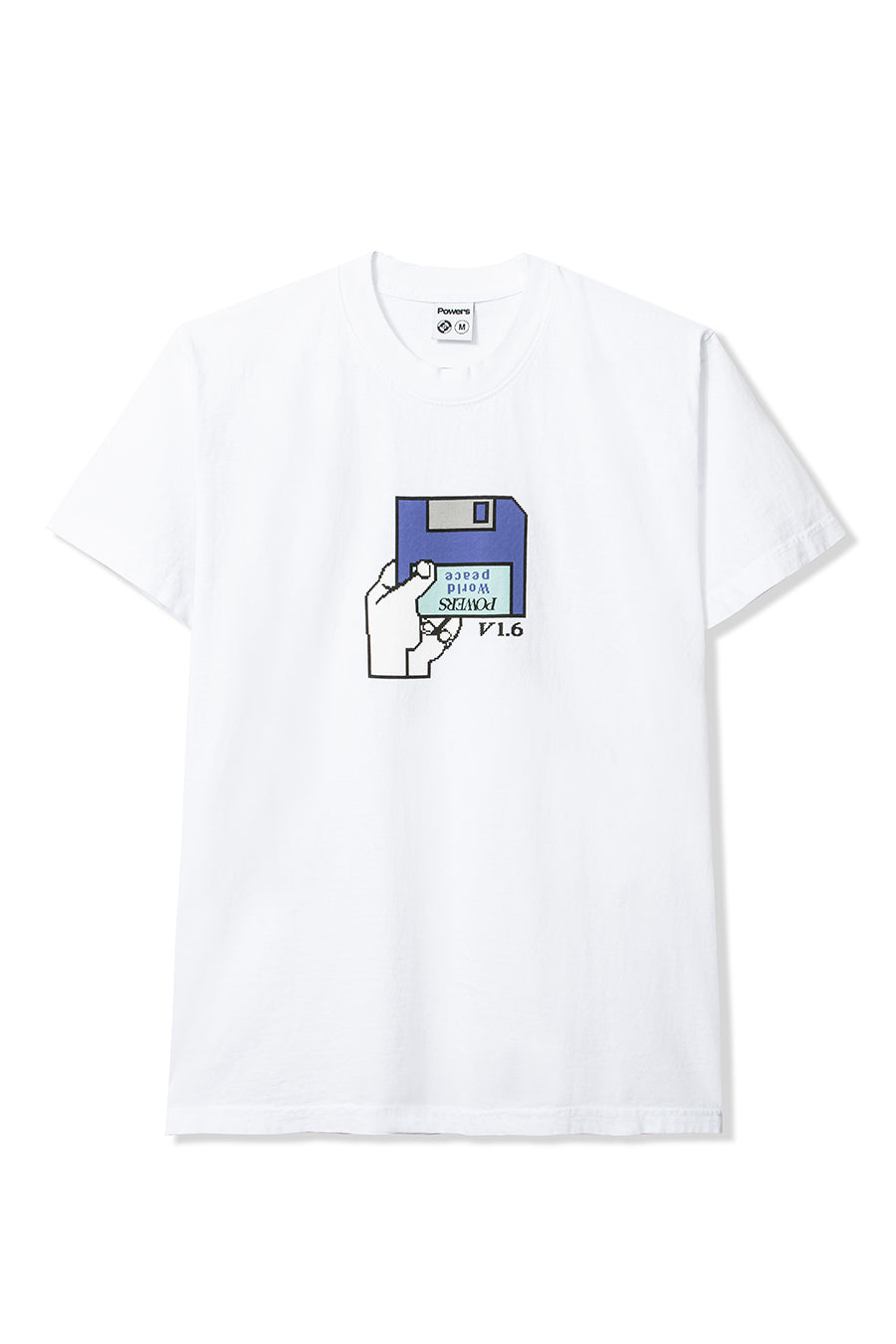 Powers Supply - White Floppy T-Shirt