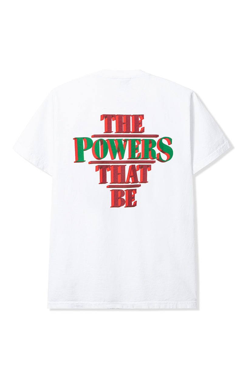 "Powers Supply - White ""Powers That Be"" T-Shirt"