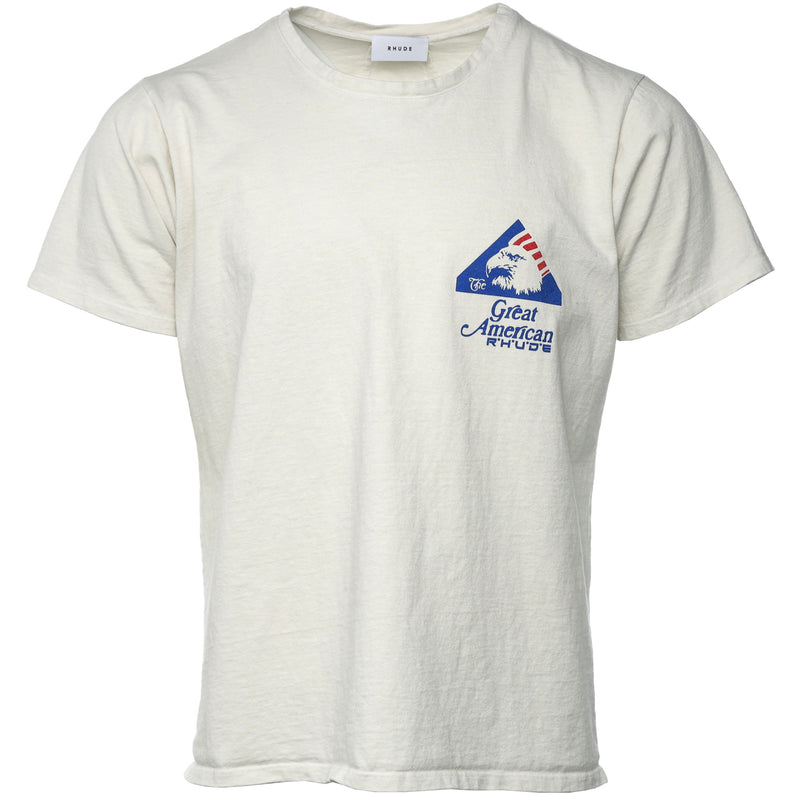 Rhude - White Great American Reality T-Shirt