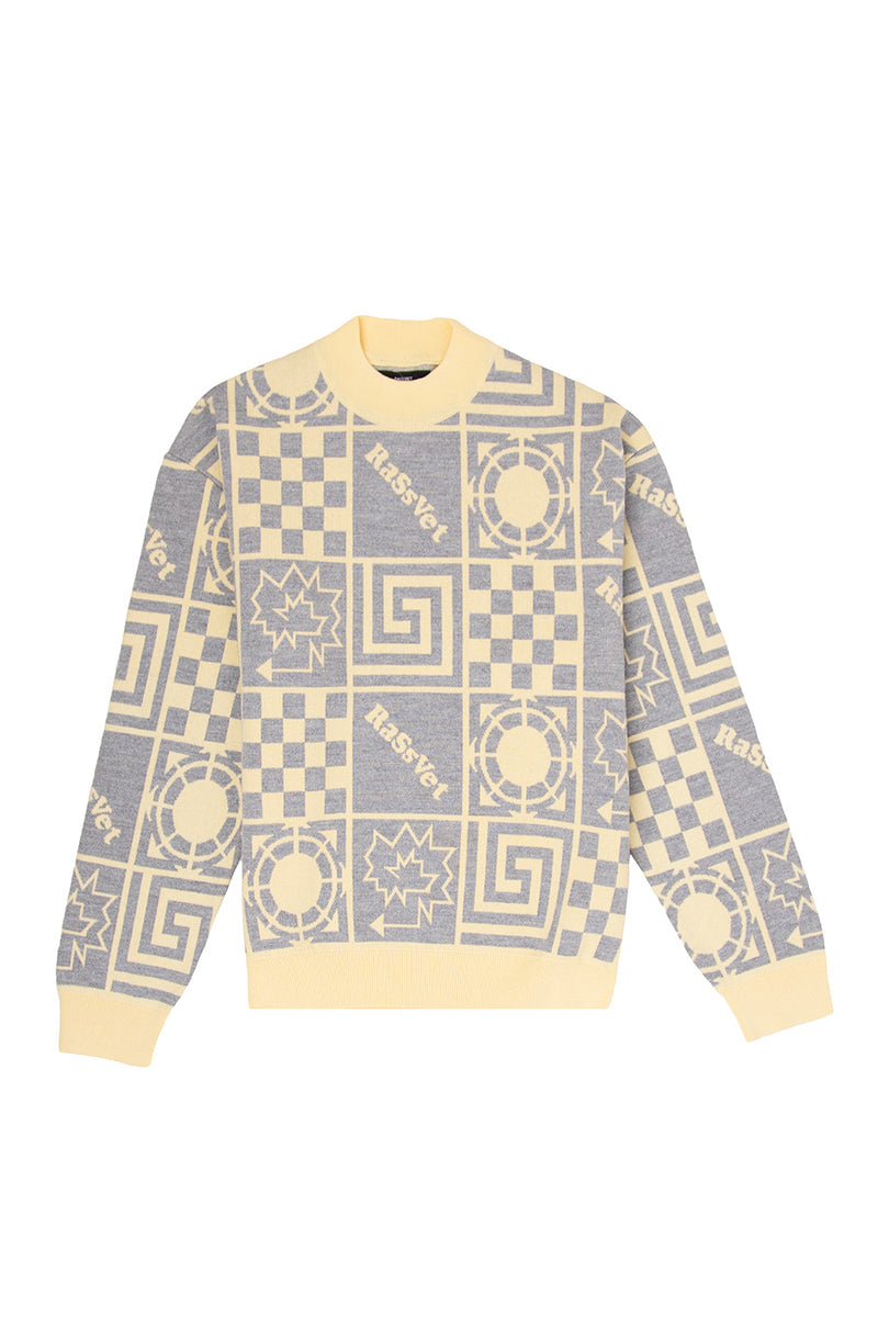Rassvet - Yellow Men's Sweater | 1032 SPACE