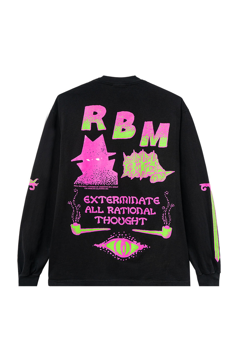 Real Bad Man - Black Exterminate Long Sleeve T-Shirt | 1032 SPACE