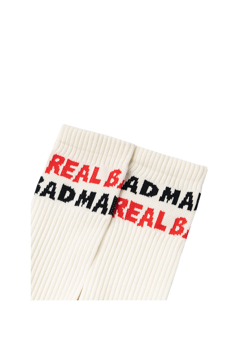 Real Bad Man - Black & Read Spellout Socks | 1032 SPACE