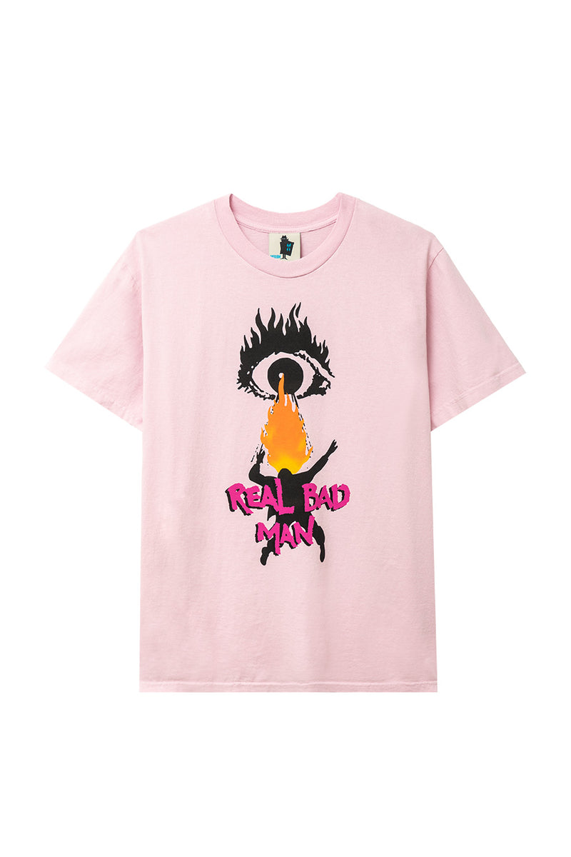 Real Bad Man - Pink Bold New Vision T-Shirt | 1032 SPACE