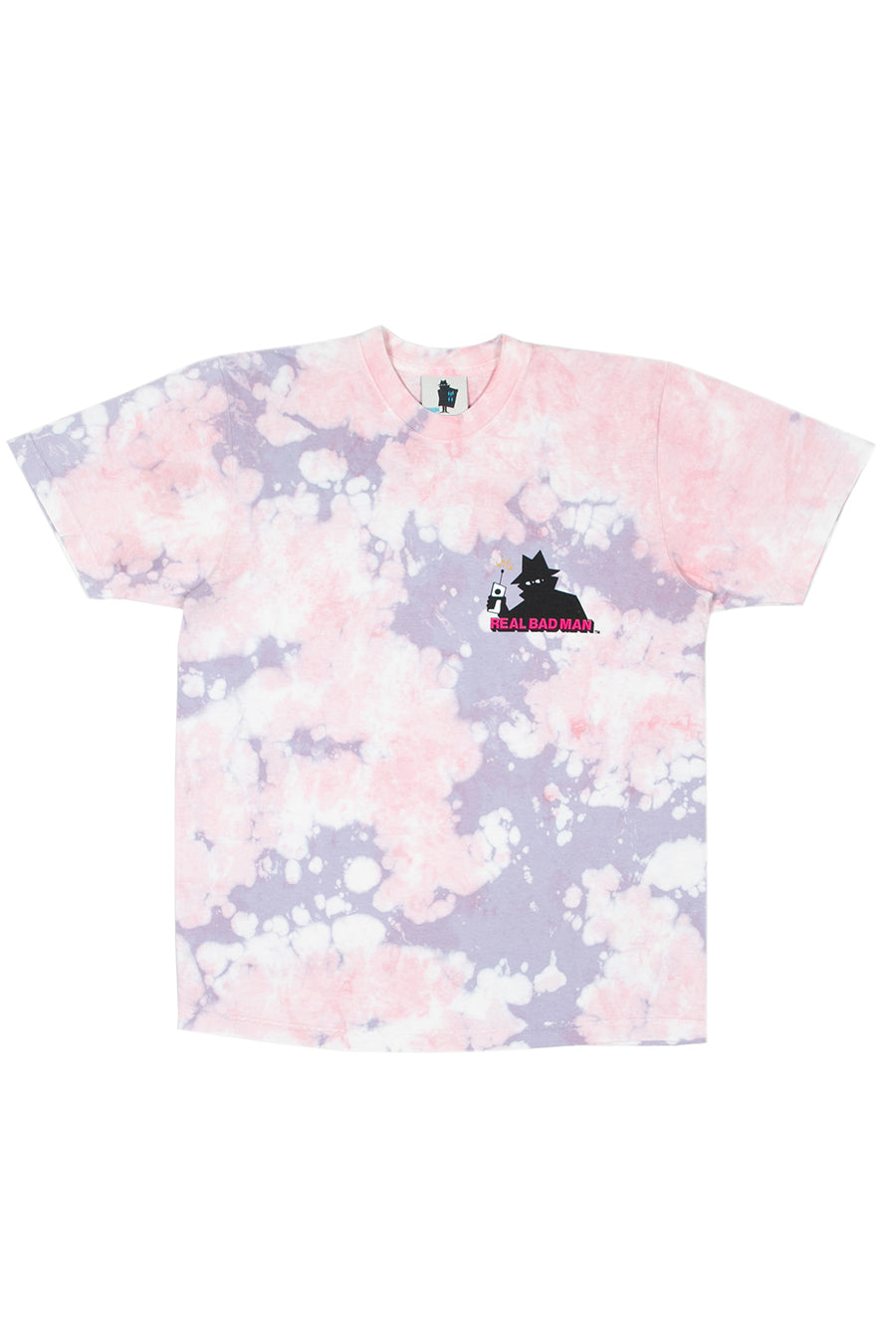 Real Bad Man - Pink Tie Dye Logo T-Shirt