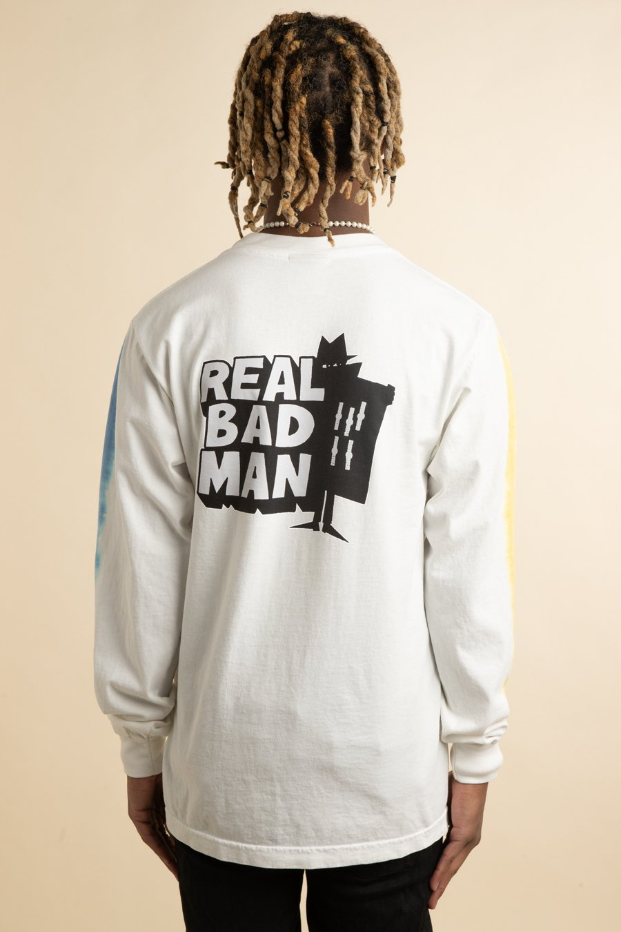 Real Bad Man - White RBM Logo Vol.4 Tie Dye Long Sleeve T-Shir