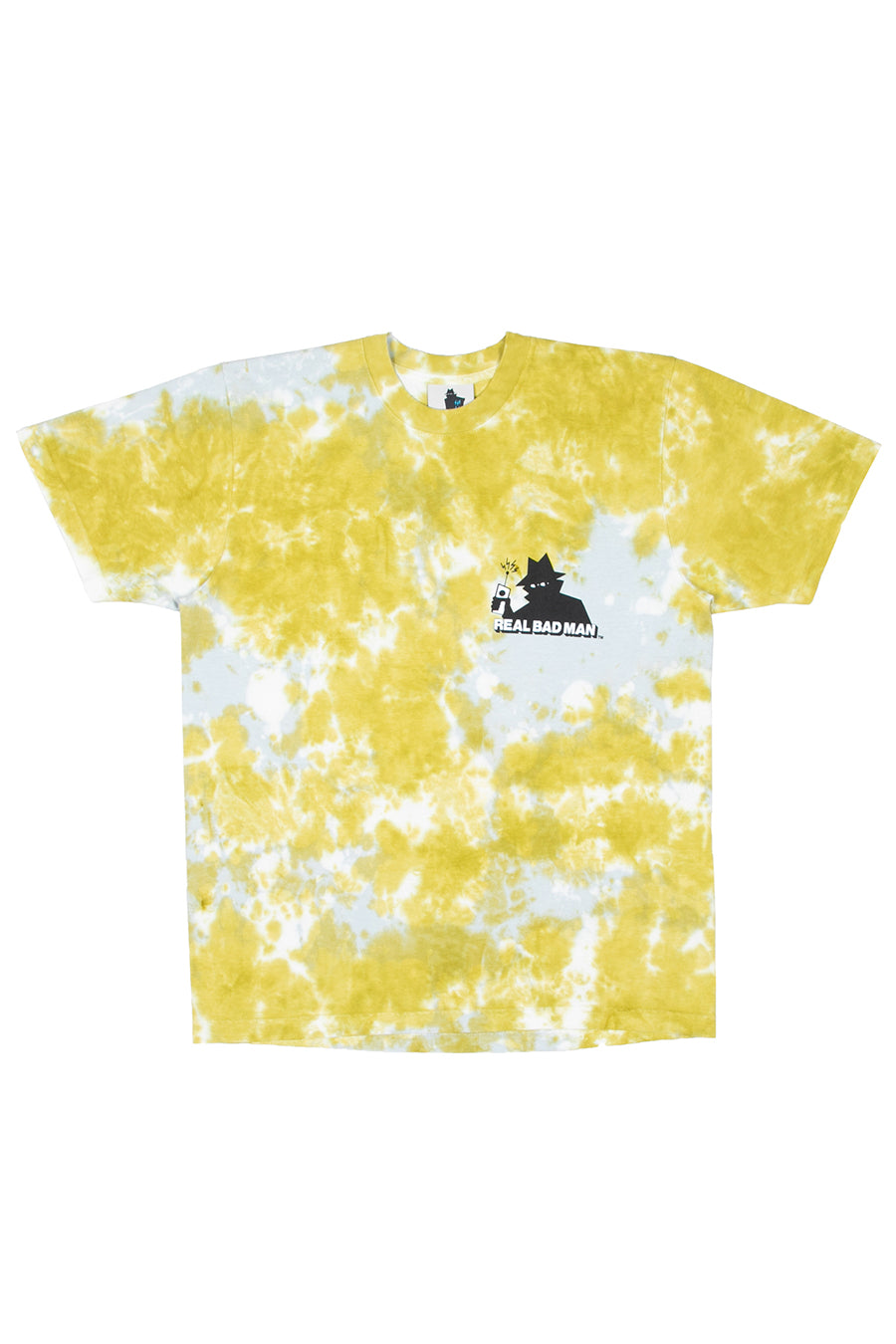 Real Bad Man - Yellow Tie Dye Logo T-Shirt