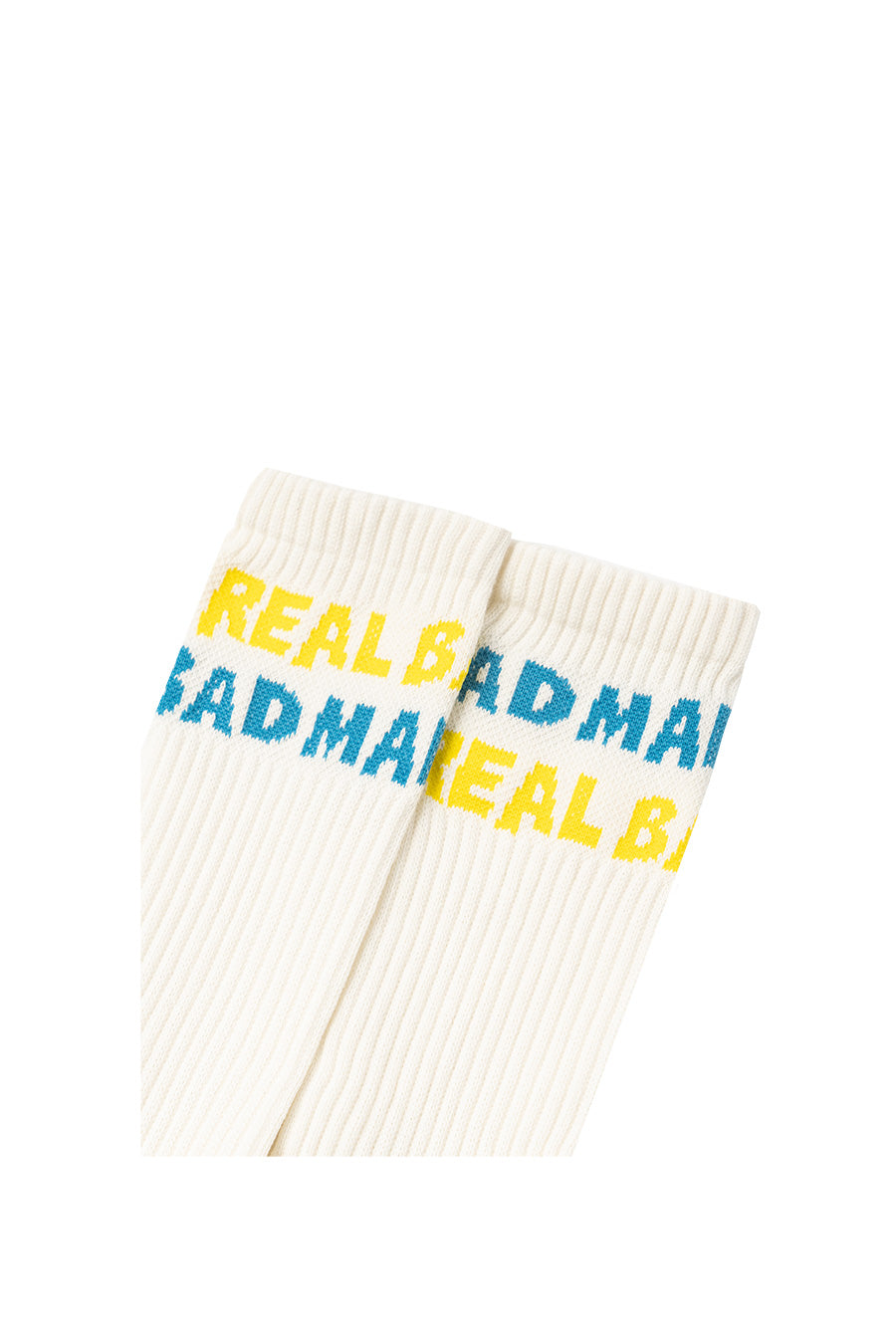 Real Bad Man - Yellow Spellout Socks | 1032 SPACE