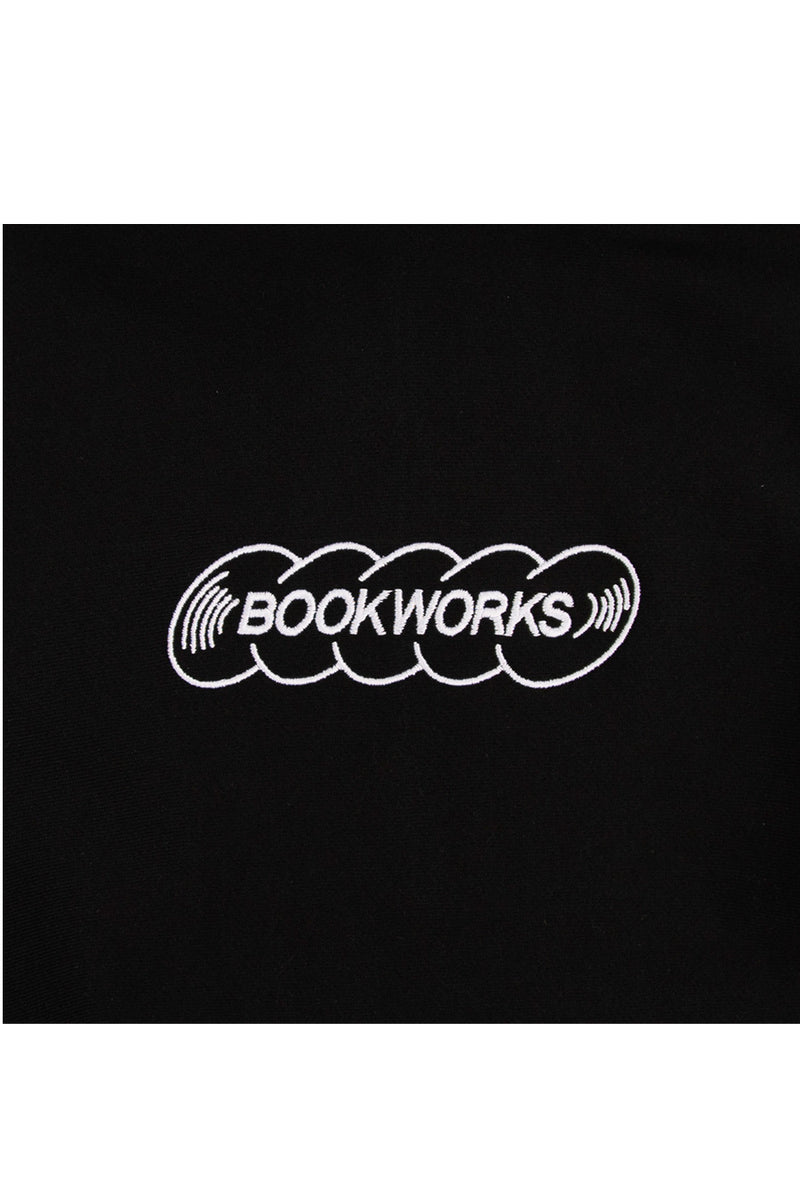 Book Works - Black Embroidered Record Log Hoodie | 1032 SPACE