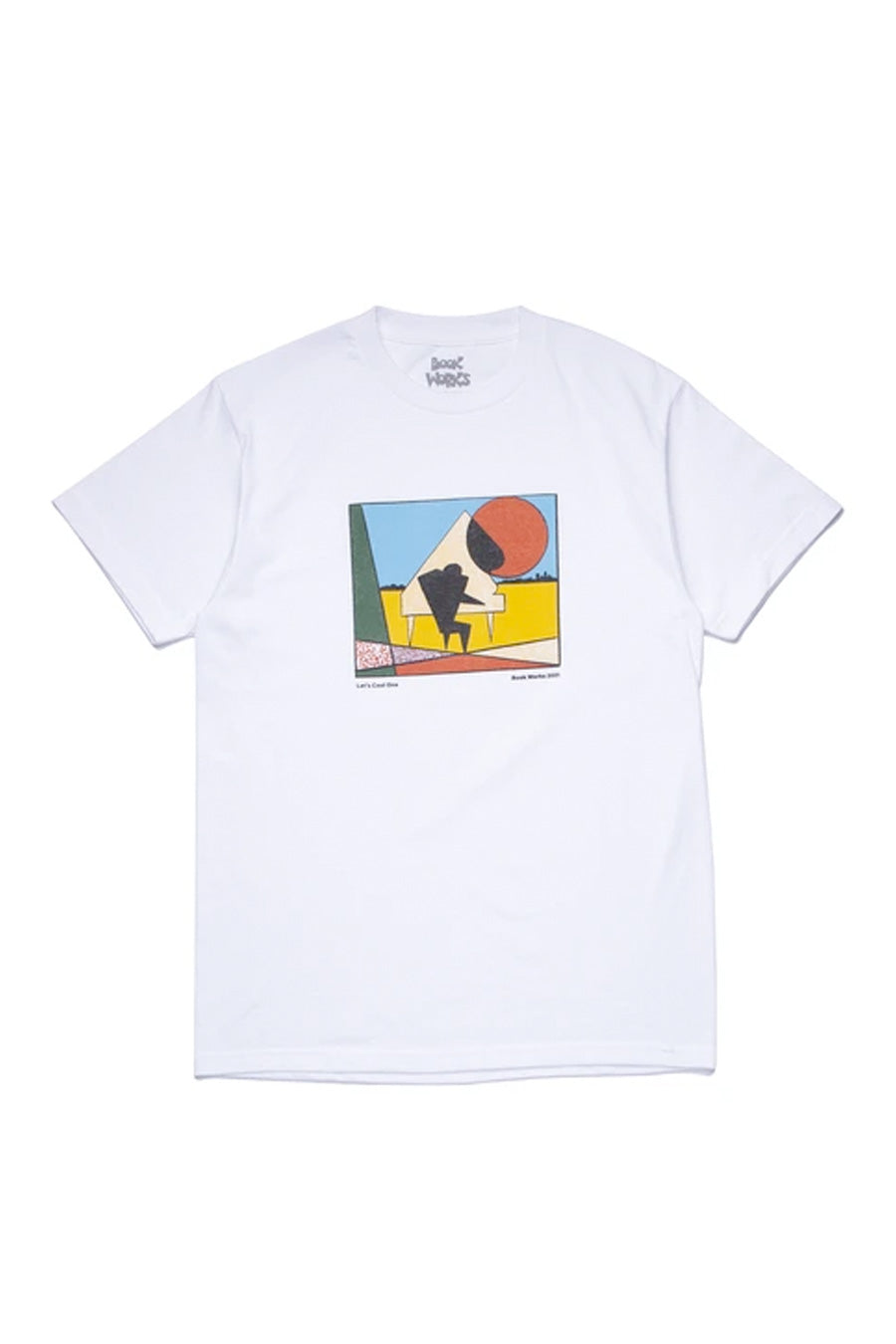 Book Works - White Let's Cool One T-Shirt | 1032 SPACE