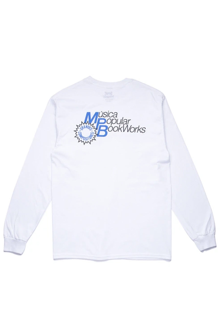 Book Works - White MPB Long Sleeve T-Shirt | 1032 SPACE