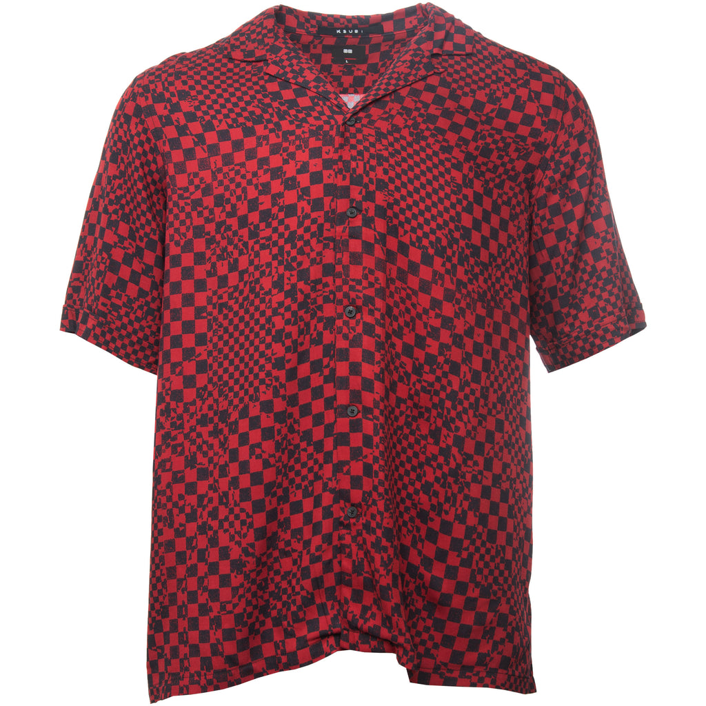 Red and Black Check Mate Resort Shirt