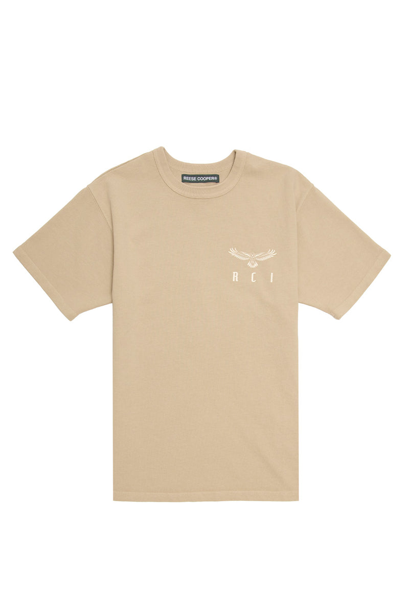 Reese Cooper - Khaki Eagle Wings T-Shirt | 1032 SPACE