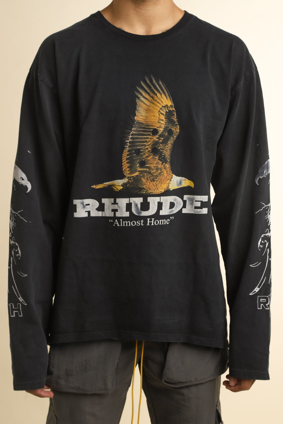 Rhude - Black Almost Home Long Sleeve T-Shirt