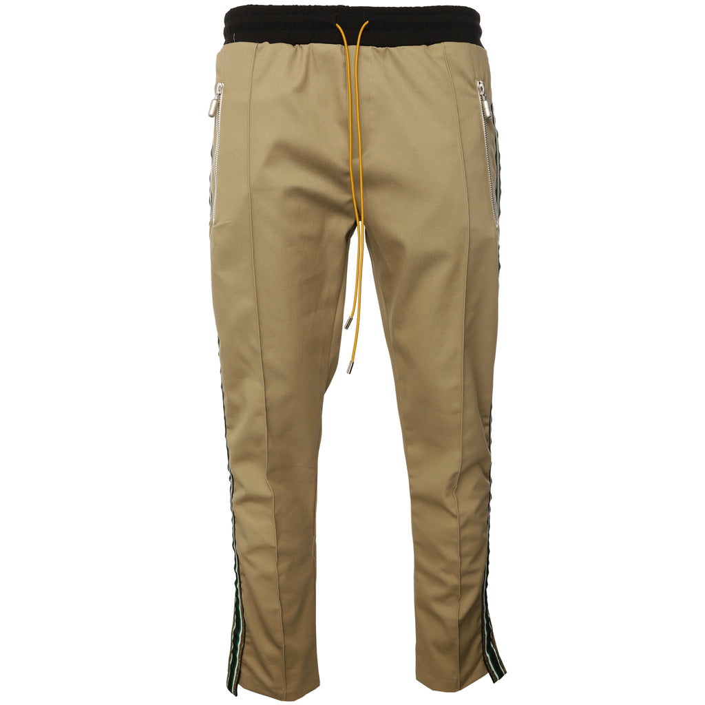Beige Twill Traxedo Trousers