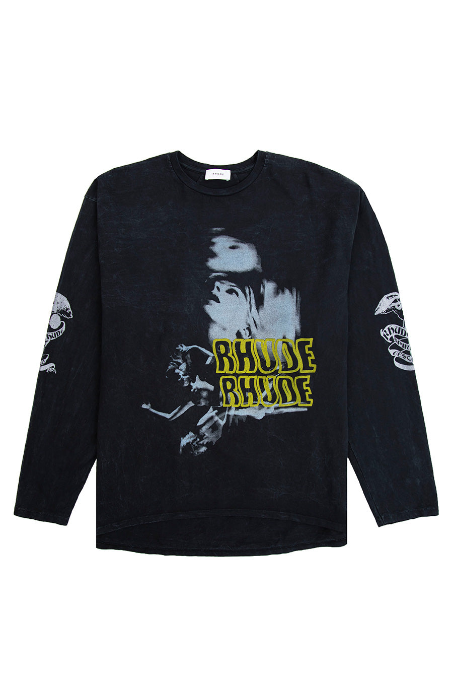 Rhude - Black Blue Woman Long Sleeve T-Shirt | 1032 SPACE