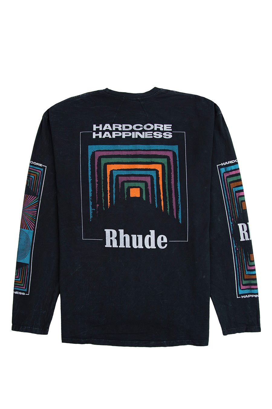 Rhude - Black Box Perspective Long Sleeve T-Shirt | 1032 SPACE