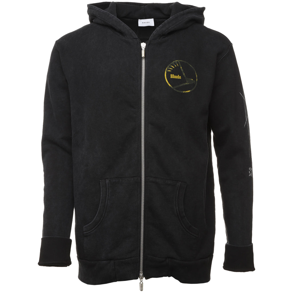 Rhude - Black Dragon Zip Up Hoodie