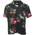 Rhude - Black Hawaiian Girl Logo Shirt