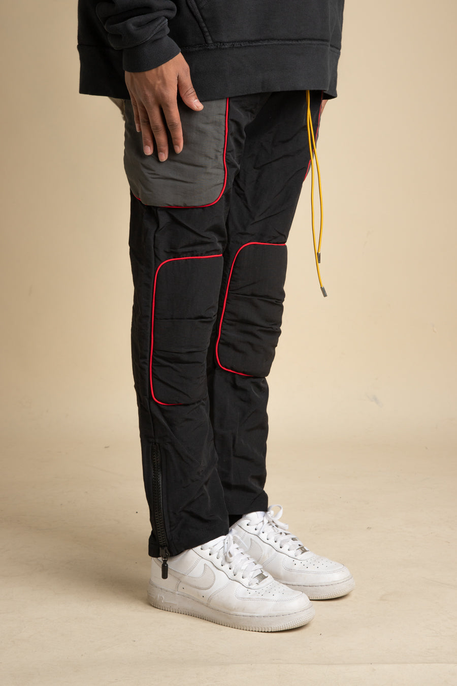 Rhude - Black & Red Moto Pant