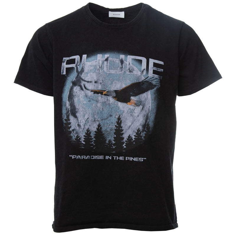 Rhude - Black Paradise in the Pines T-Shirt