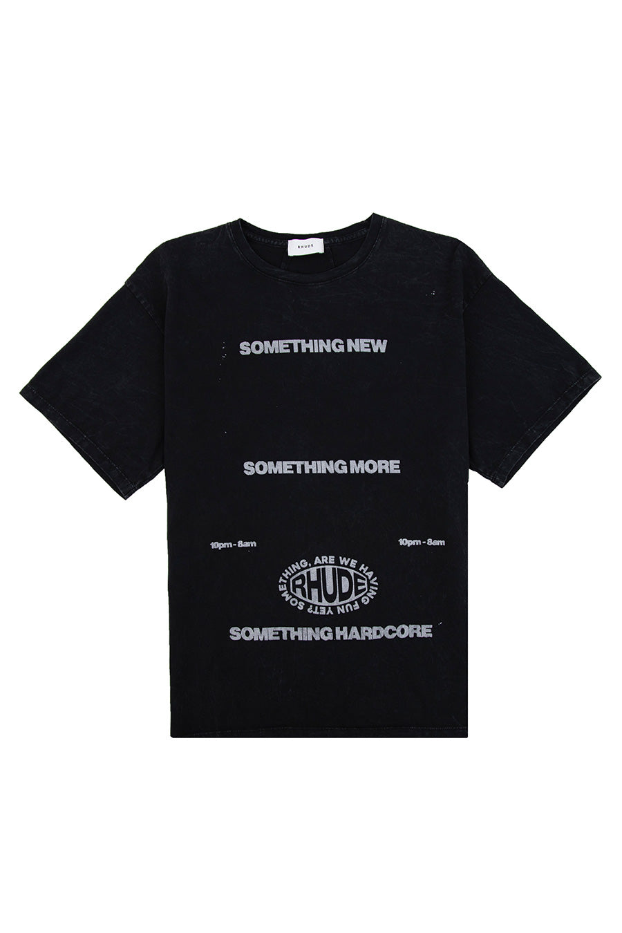 Rhude - Black Something More T-Shirt | 1032 SPACE