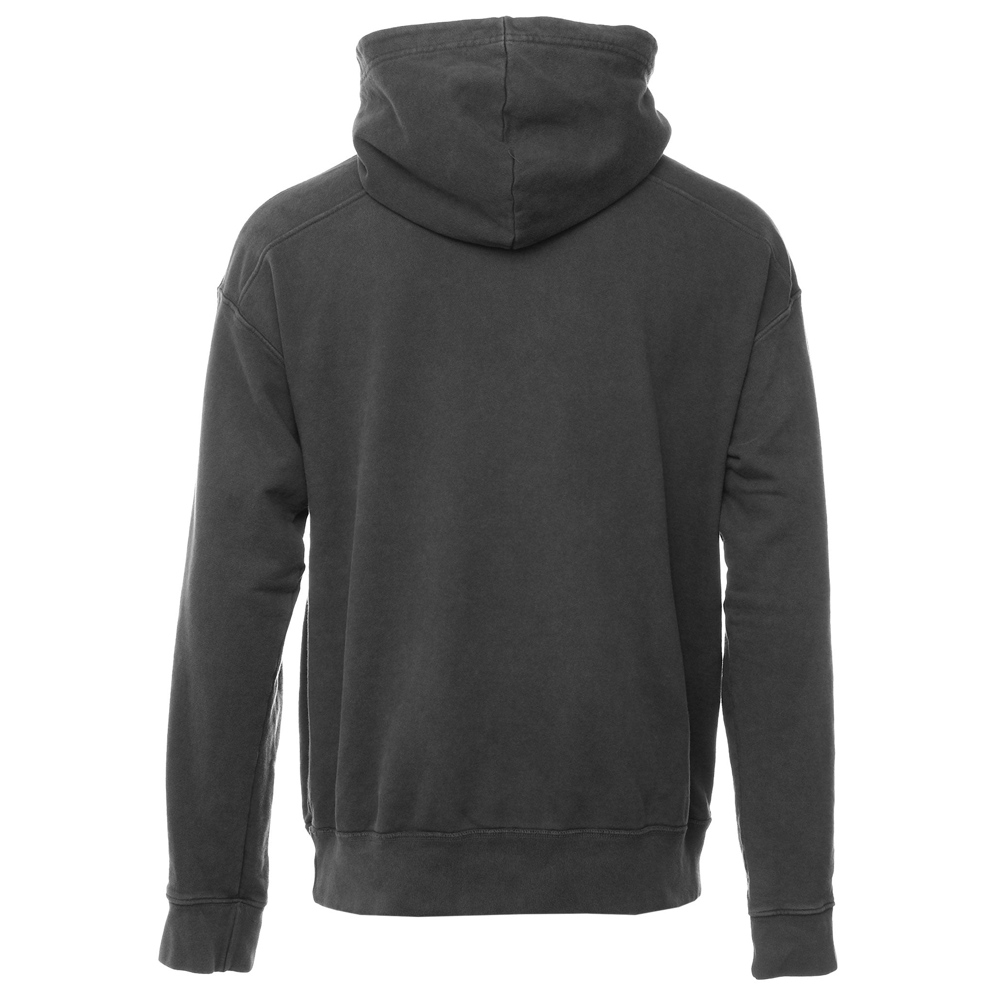 Black Washed Swarosky Crystal Logo Hoodie