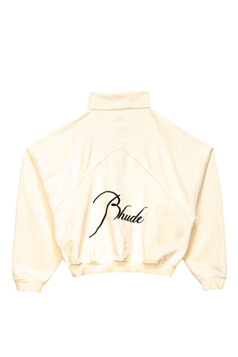 Rhude - Créme Quarter Zip Sweatshirt | 1032 SPACE