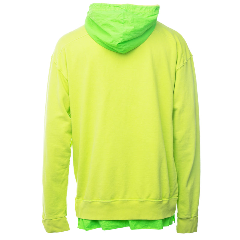 Rhude - Green Neon Layered French Terry Hoodie