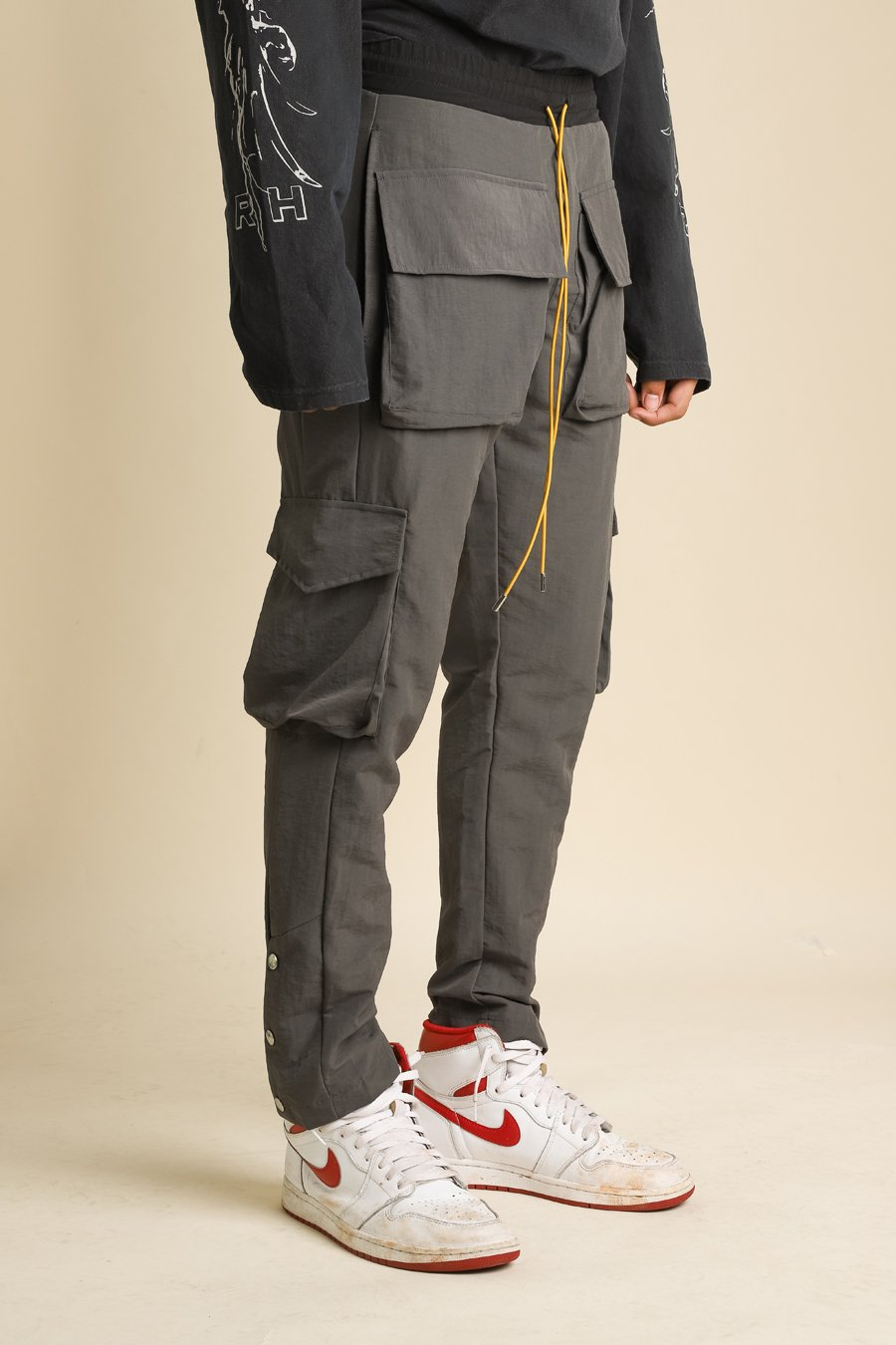 Rhude - Grey Satin Rifle Cargo Pants