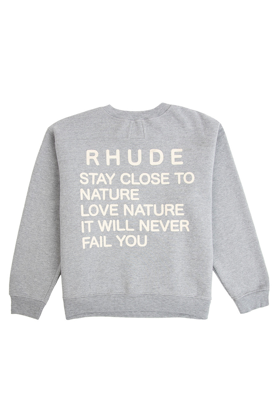 Rhude - Grey Trekking Crewneck Sweatshirt | 1032 SPACE