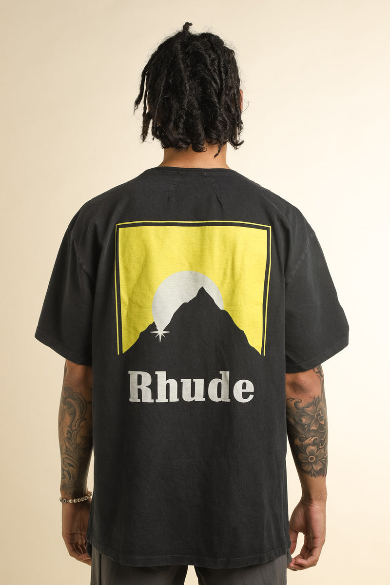 Rhude - Black Moonlight Logo T-Shirt