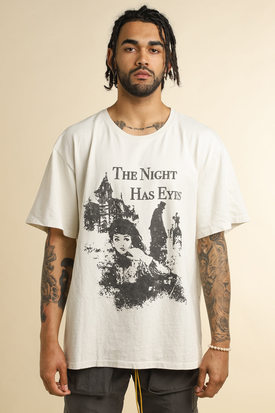 Rhude - White The Night Has Eyes T-Shirt