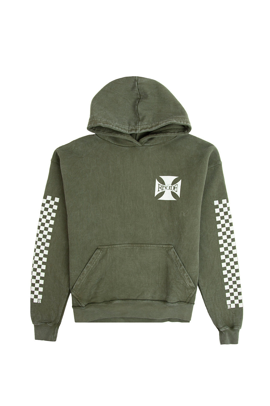 Rhude - Olive Classic Checkers Hoodie | 1032 SPACE