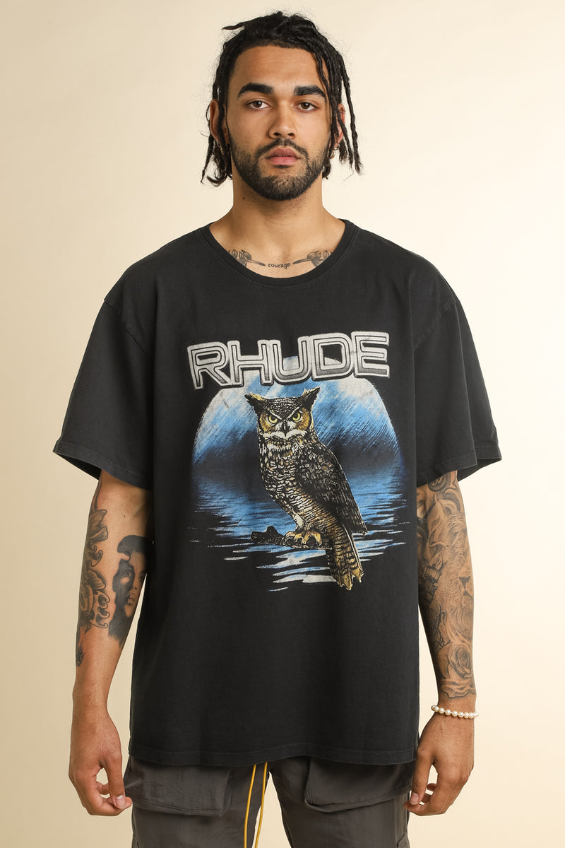 Rhude - Black Owl T-Shirt