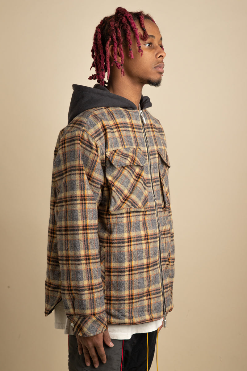 Rhude - Plaid Quilted Cargo Jacket