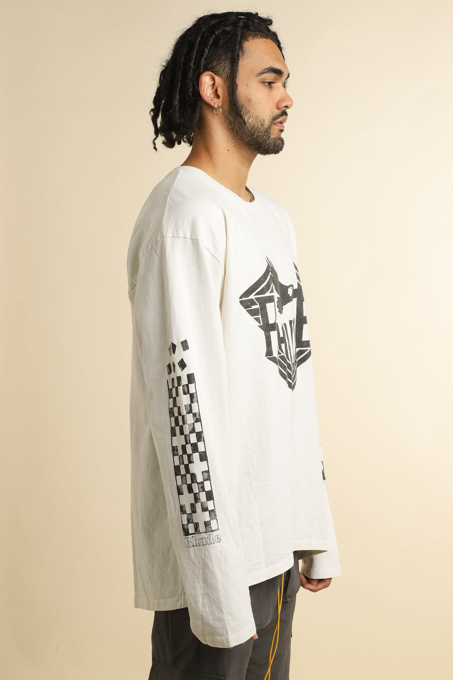 Rhude - White Rhanger Long Sleeve T-Shirt