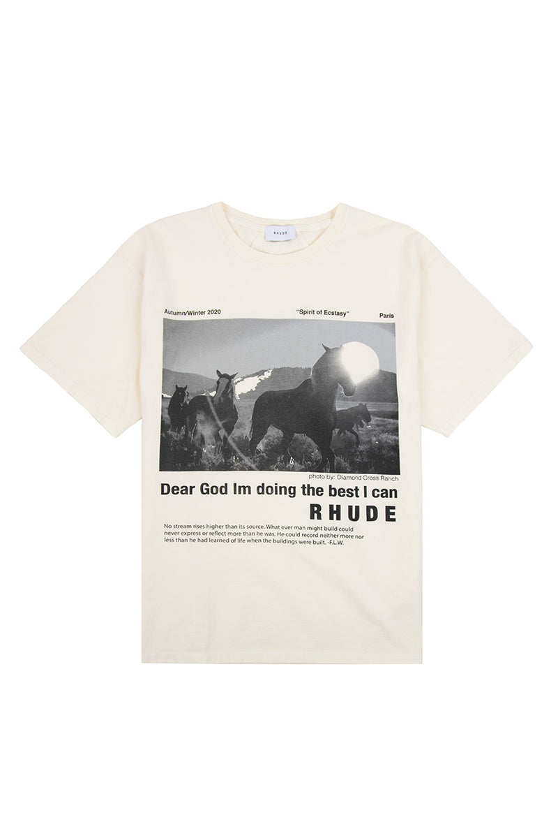Rhude - White Best I Can T-Shirt | 1032 SPACE