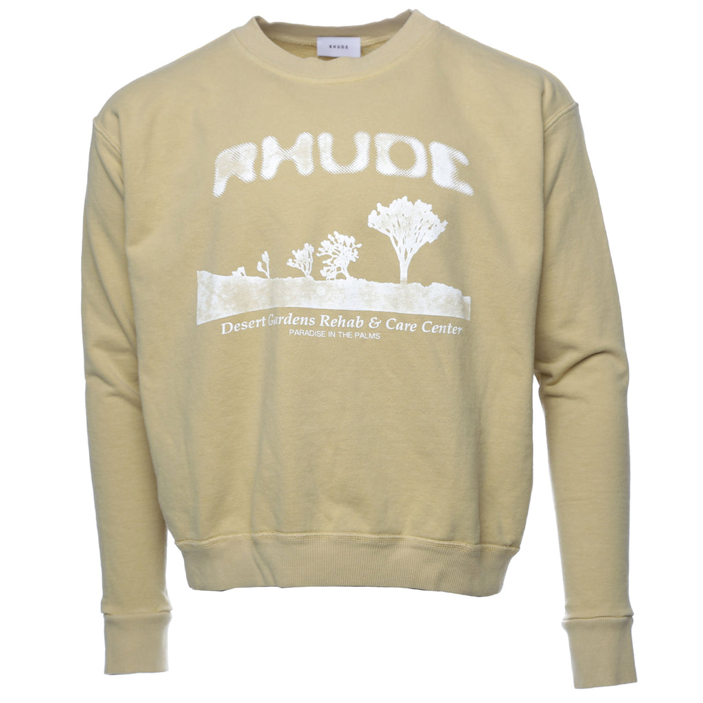 Rhude Yellow Desert Treatment Crewneck Sweatshirt Rhuigi
