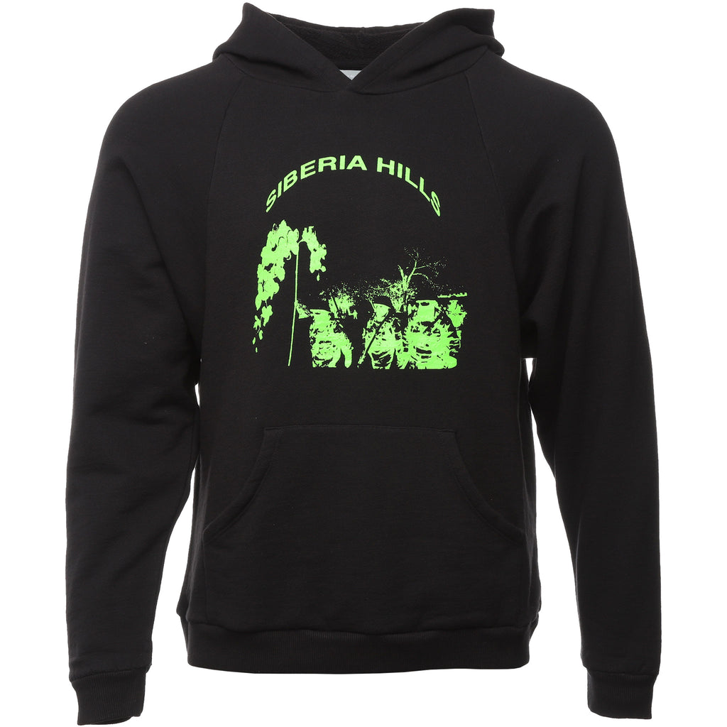 Siberia Hills - Black and Green Batwing Hoodie