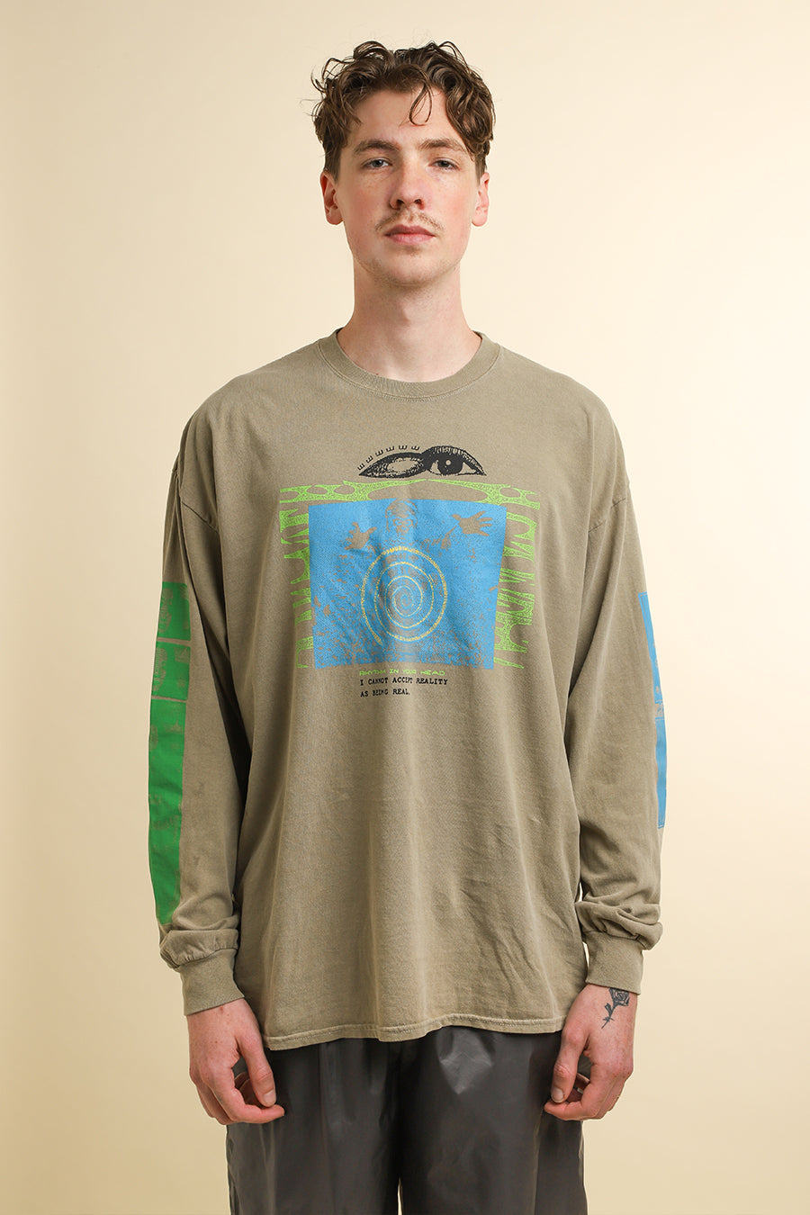Brain Dead - Tan Sun Head Long Sleeve T-Shirt