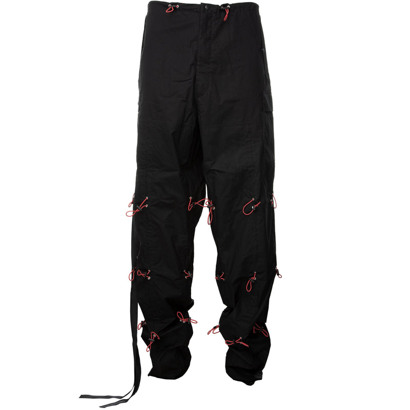 Black Drawstring Baggy Cargo Pants