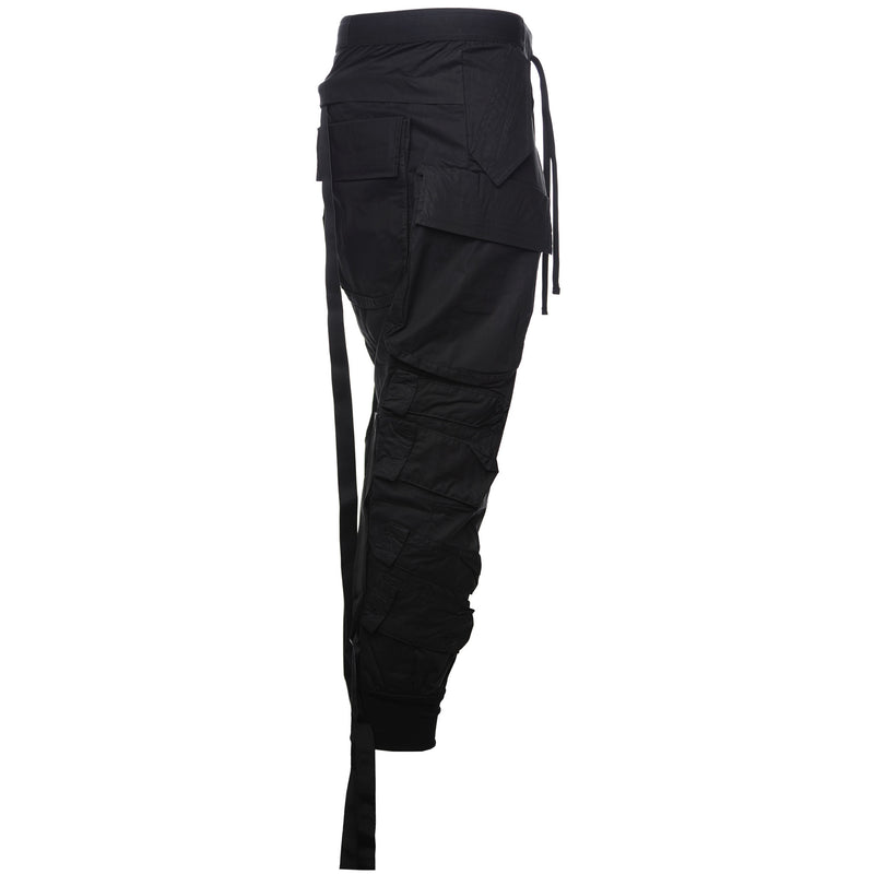 Unravel Project by Ben Taverniti Black Tapered Cotton Cargo Pants Side